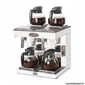 Coffee Queen - DM4 - Klassisk kaffebryggare med fyra värmeplattor - Manuell vattenpåfyllning