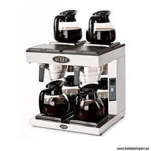 Coffee Queen - DA4 - Klassisk kaffebryggare med fyra värmeplattor - Automatisk vattenpåfyllning