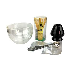 Baristashopen - Ekologiskt Matcha-kit - Ekologisk Matcha 30g, skål, bambuvisp, hållare för visp och måttsked i rostfritt stål