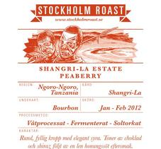 Stockholm Roast – Shangri-La Estate Peaberry - 250g