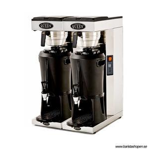 Coffee Queen - Mega Gold A x2 - Termosbryggare - Brygger direkt ner i serveringsstation - Automatisk vattenpåfyllning