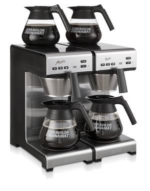 Bonamat - Matic Twin 230V - Modell 2017 -  2 snabba filterbryggare med vattenanslutning - Kaffebryggare