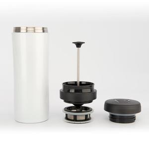 Espro - Travel Tea Press - Bright White - Presskanna som gör te i spillfri termosmugg