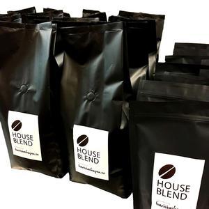 Baristashopen - House Blend - Brasilien och Nicaragua - Lätt mörkrostade kaffebönor - 1000g