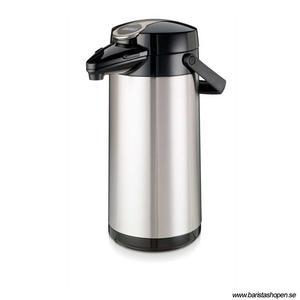 Bonamat - Airpot Furento - Pumptermos med glaskärna och rostfritt hölje - 2,2 liter