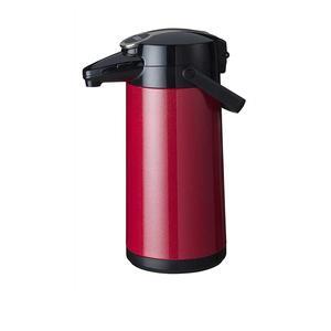 Bonamat - Airpot Furento - Pumptermos - Rostfri stålkärna - Röd metallisk - 2,2 liter