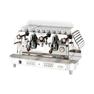 Elektra - BARLUME 2-group Ice White - Snygg och högpresterande espressomaskin med 50-talsdesign - För restaurang, bar, café etc - Med två grupper