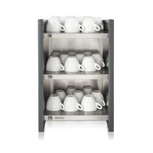 Bonamat - WHK Antracit - Hylla med koppvärmare - Håller upp till 120 koppar varma innan användning