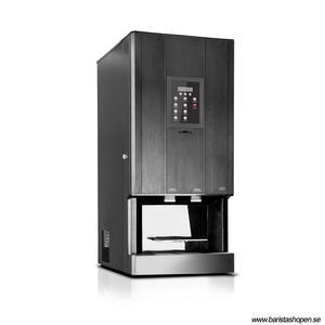 Coffee Queen - CQube MF04 CO2 Svart - Exklusiv design med välsmakande, nybryggt kaffe - Förberedd för att servera kolsyrat vatten - Behållare för malet kaffe