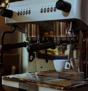 Koppställ för espressokopp till espressomaskin - rostfritt stål