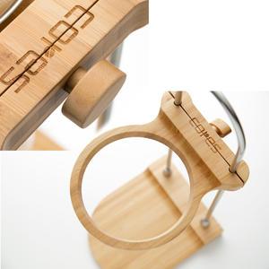 CORES - Drip Stand C501 - Stilren filterställning i bambu och rostfritt stål