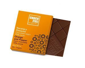 ChocoLate Orgániko - Dark Chocolate Orange & Pepper - 20g