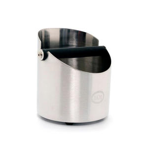 ECM - Sumplåda i borstat rostfritt stål - Knockbox stainless steel - Med ljuddämpning