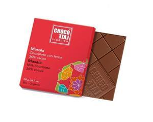 ChocoLate Orgániko - Milk Chocolate Masala 36% - 20g