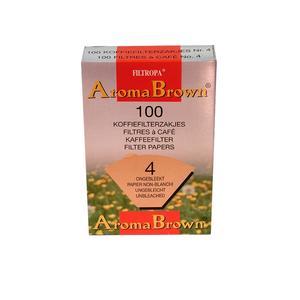 Filtropa - Aroma Brown - Oblekta ekologiska filter - Storlek 4 (1x4) - För bästa smak på kaffet