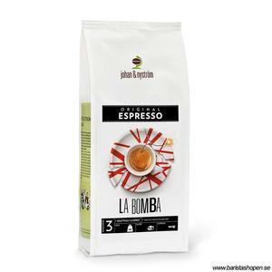 Johan & Nyström - Espresso La Bomba - Mörkrostade kaffebönor - 500g