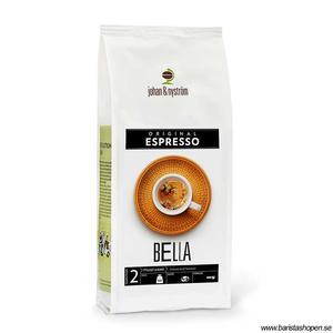 Johan & Nyström - Espresso Bella - Mellanrostade kaffebönor - 500g