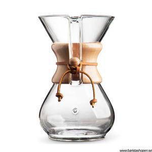 Chemex Classic - 6 koppars kaffebryggare med trähandtag