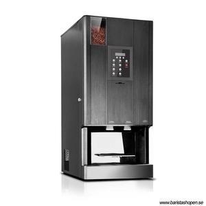 Coffee Queen - CQube MF13 W Svart - Exklusiv design med välsmakande, nybryggt kaffe - Modell med kallvatten - Behållare för hela bönor