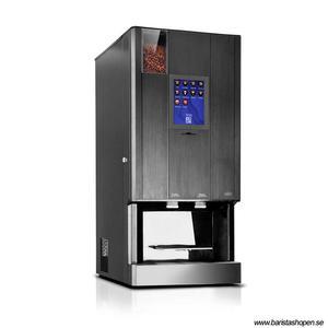 Coffee Queen - CQube MF13 W Svart Touch Screen - Exklusiv design med välsmakande, nybryggt kaffe - Modell med kallvatten - Behållare för hela bönor