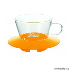 Kalita - Glass Dripper 155 - Mango Yellow - Filterhållare i glas