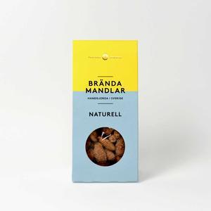 Mandel och Mandel - Brända mandlar naturell - Läckra kanderade mandlar handgjorda i Sverige