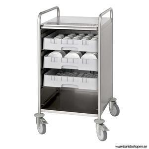 Bonamat - Serveringsvagn 20S - Idealisk för att servera kaffe och andra drycker - Rostfritt stål