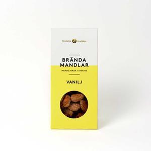 Mandel och Mandel - Brända mandlar vanilj - Läckra kanderade mandlar handgjorda i Sverige