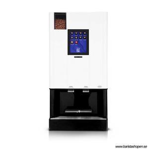 Coffee Queen - CQube MF13 W Vit Touch Screen - Exklusiv design med välsmakande, nybryggt kaffe - Modell med kallvatten - Behållare för hela bönor