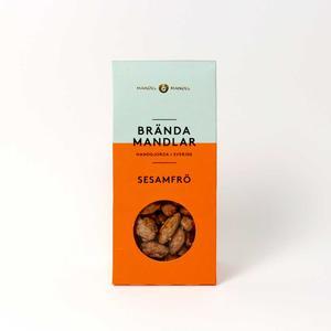 Mandel och Mandel - Brända mandlar sesamfrö - Läckra kanderade mandlar handgjorda i Sverige