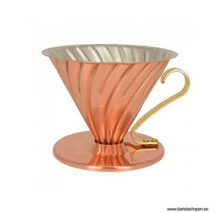 Hario - V60 02 - Copper Coffee Dripper - 2kopps modell i koppar