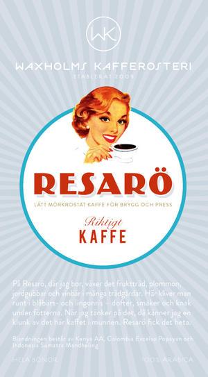 Waxholms Kafferosteri - Resarö- Lätt mörkrostade kaffebönor - 500g