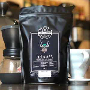 Björklunds kafferosteri - Iyela AAA - Tanzania - Ljusrostade kaffebönor - 250g