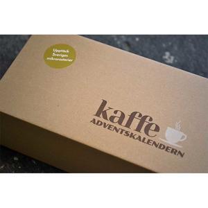 Kaffeadventskalender - Kalender med 24st påsar hela kaffebönor av Svenska mikrorosterier