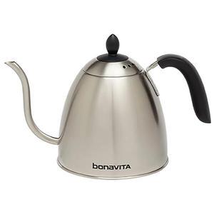 Bonavita - 1.0 L Gooseneck Kettle - Pour over-kanna med svanhals-pip - Passar spis- och induktionshäll