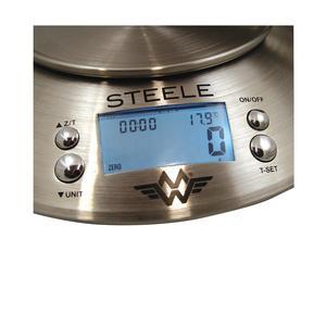 MyWeigh - Steele - Digital våg med termometer och timer - 1g till 5000g